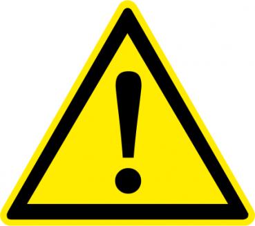 Aufkleber Allgemeines Warnzeichen
