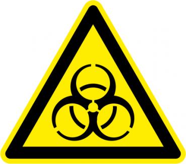 Schild Biogefährdung Biohazard