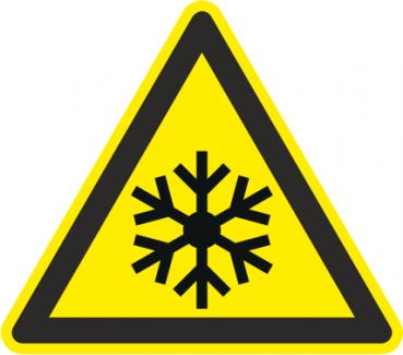 Warnschild niedrige Temperatur/Frost