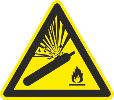 Warnschilder Gasflaschen