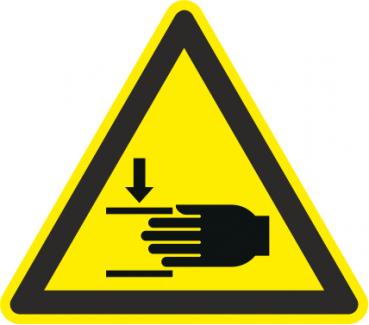 Warnung Handverletzung
