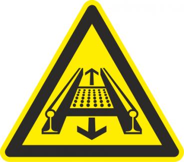 Warnung Gleisförderanlage
