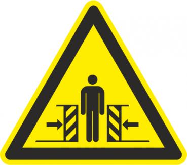 Warnzeichen Quetschgefahr