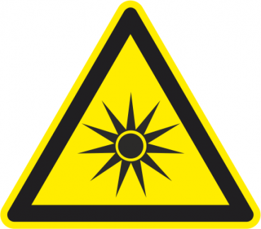 Warnhinweis vor optischer Strahlung