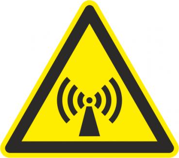 Warnhinweis vor nicht ionisierender Strahlung
