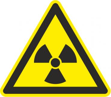Warnschild radioaktive Strahlung
