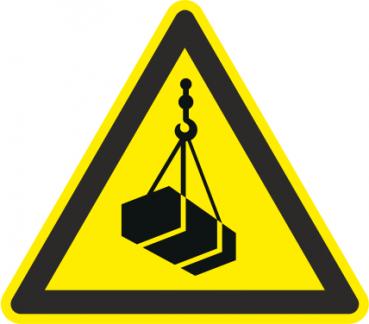 Warnschild schwebende Last