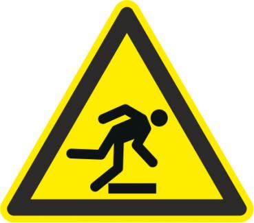 Warnzeichen Stolpergefahr