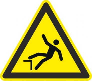 Absturzgefahr Warnschild