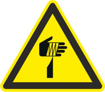 Warnung spitzer Gegenstand
